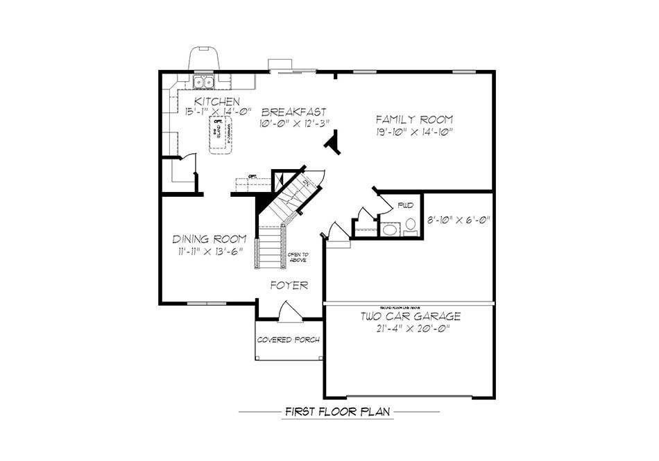 Dalton First Floor Plan