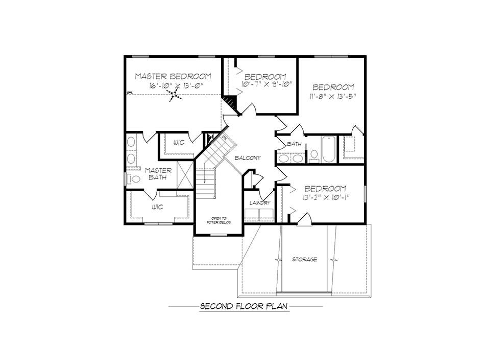 Dalton Second Floor Plan