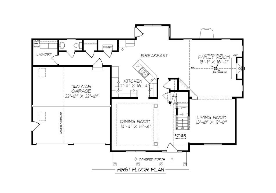 Denton First Floor Plan