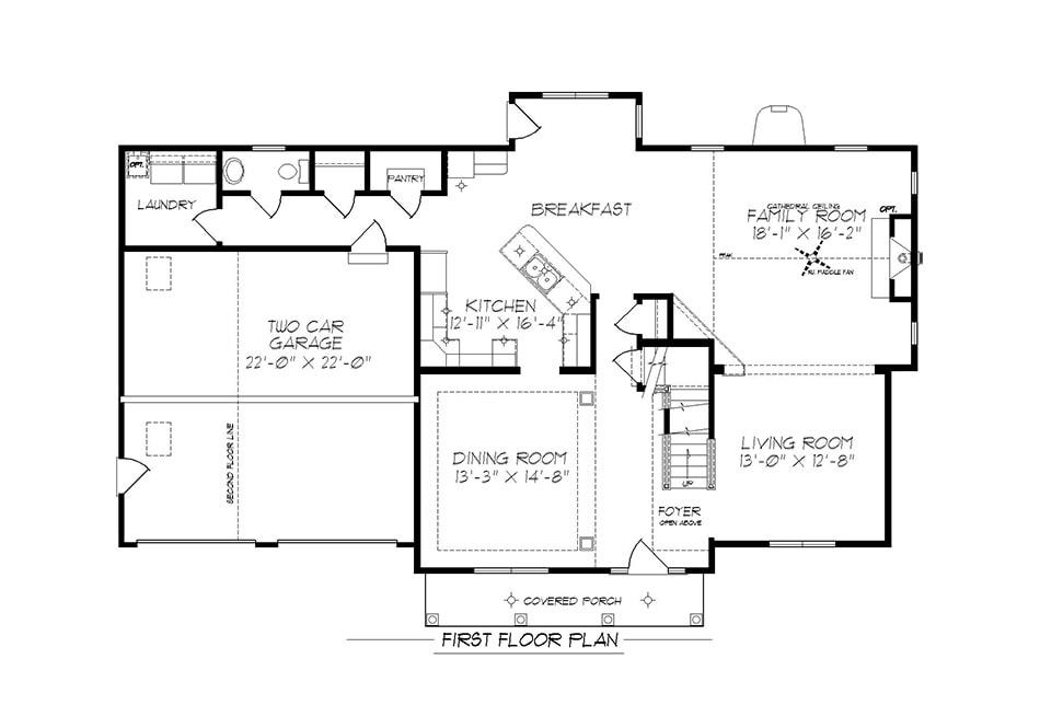 Denton First Floor Plan