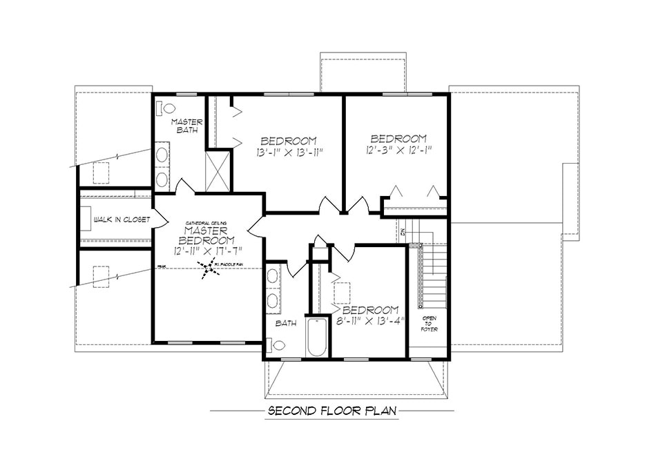 Denton Second Floor Plan