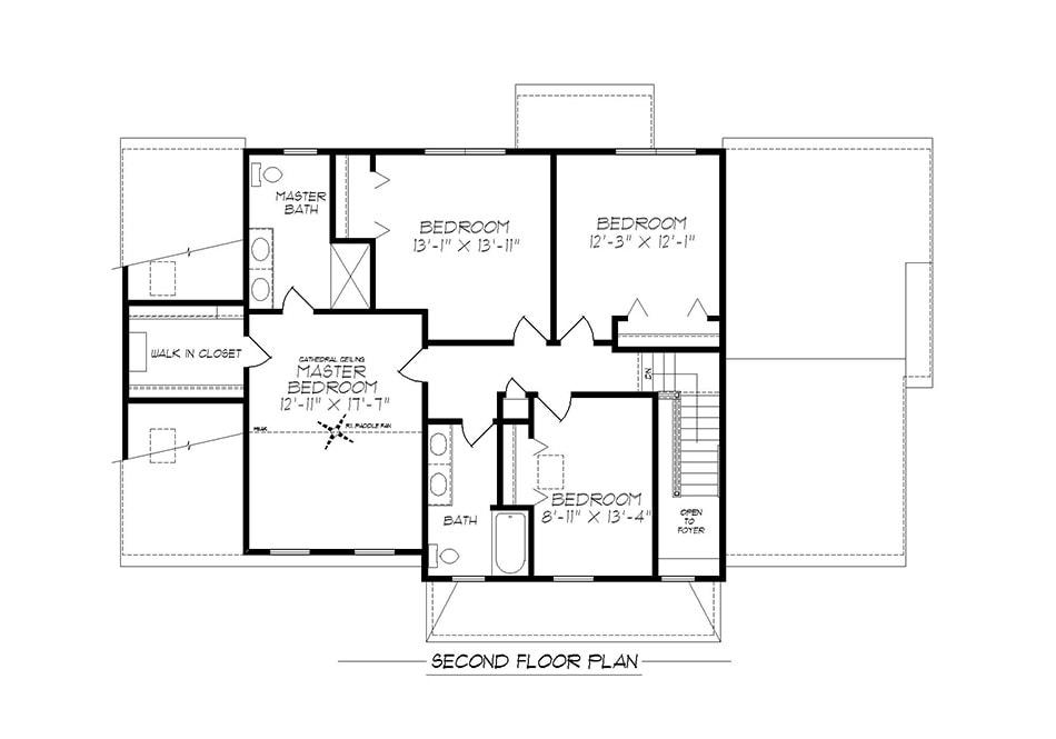 Denton Second Floor Plan
