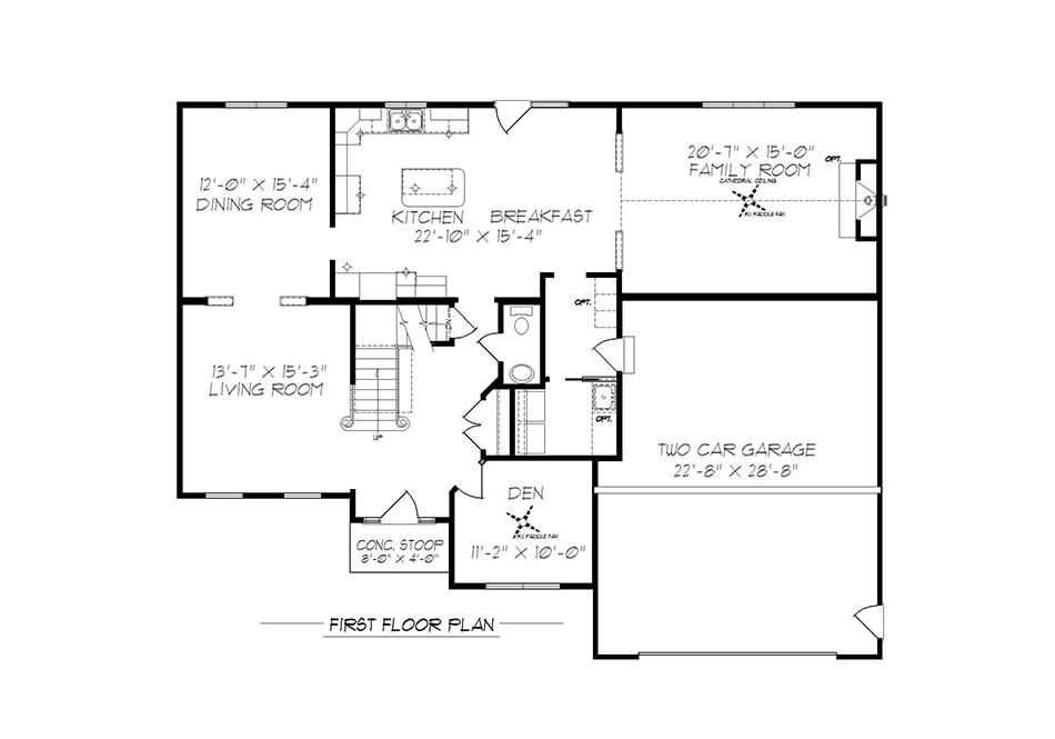 Fairfield First Floor Plan
