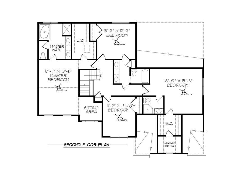 Fairfield Second Floor Plan