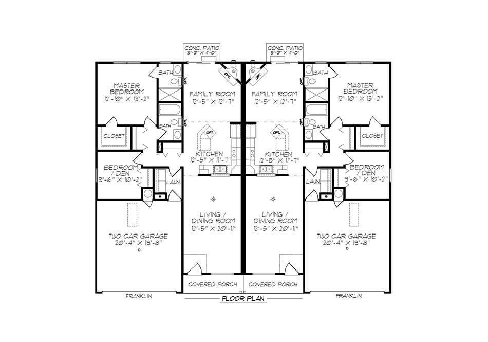 Franklin First Floor Plan