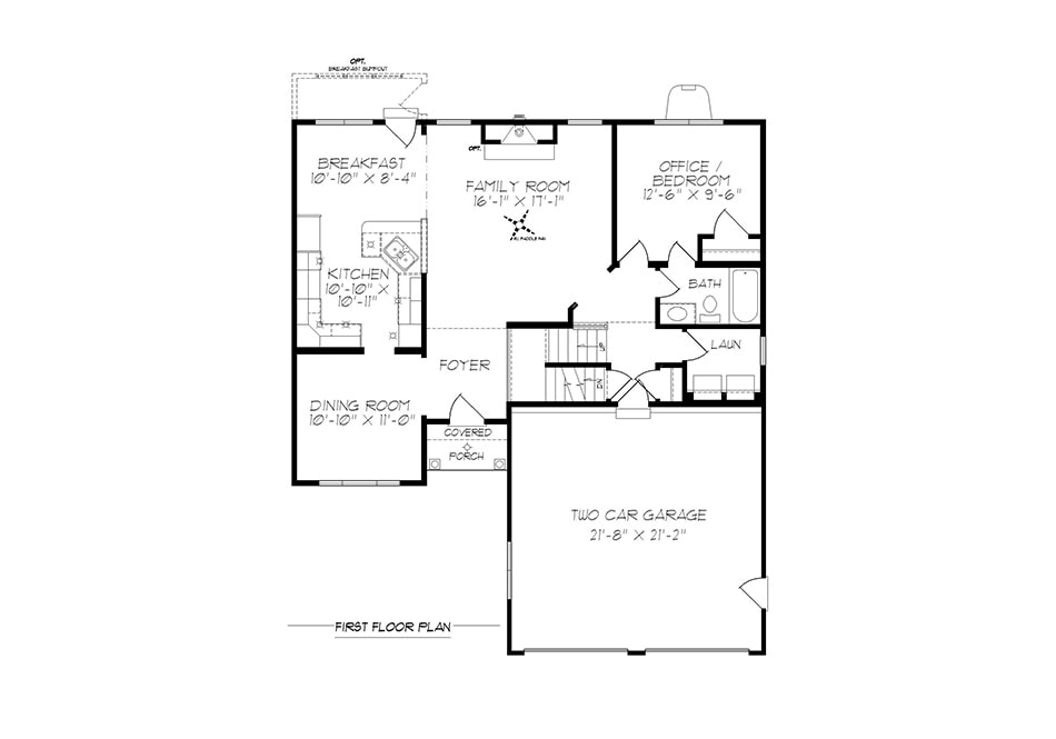 Fulton First Floor Plan