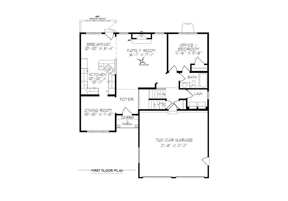 Fulton First Floor Plan