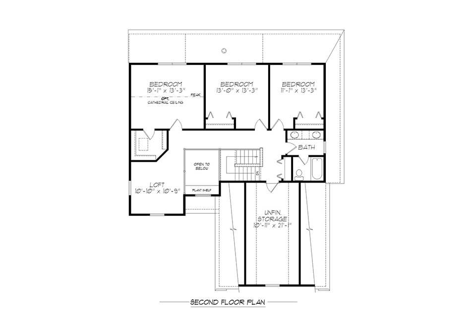 Fulton II Second Floor Plan