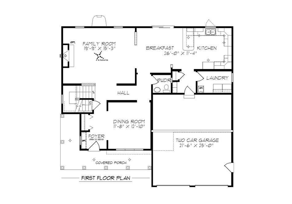 Glenwood First Floor Plan