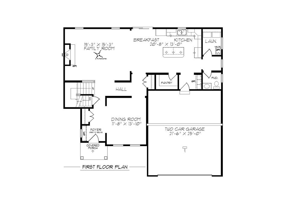 Glenwood American First Floor Plan