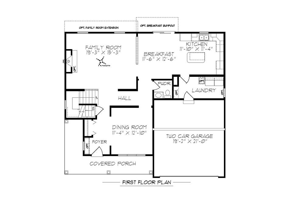 Glenwood II First Floor Plan