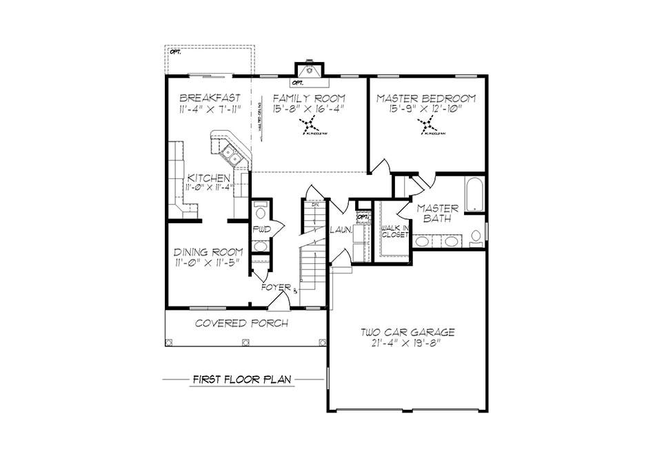 Harrison First Floor Plan