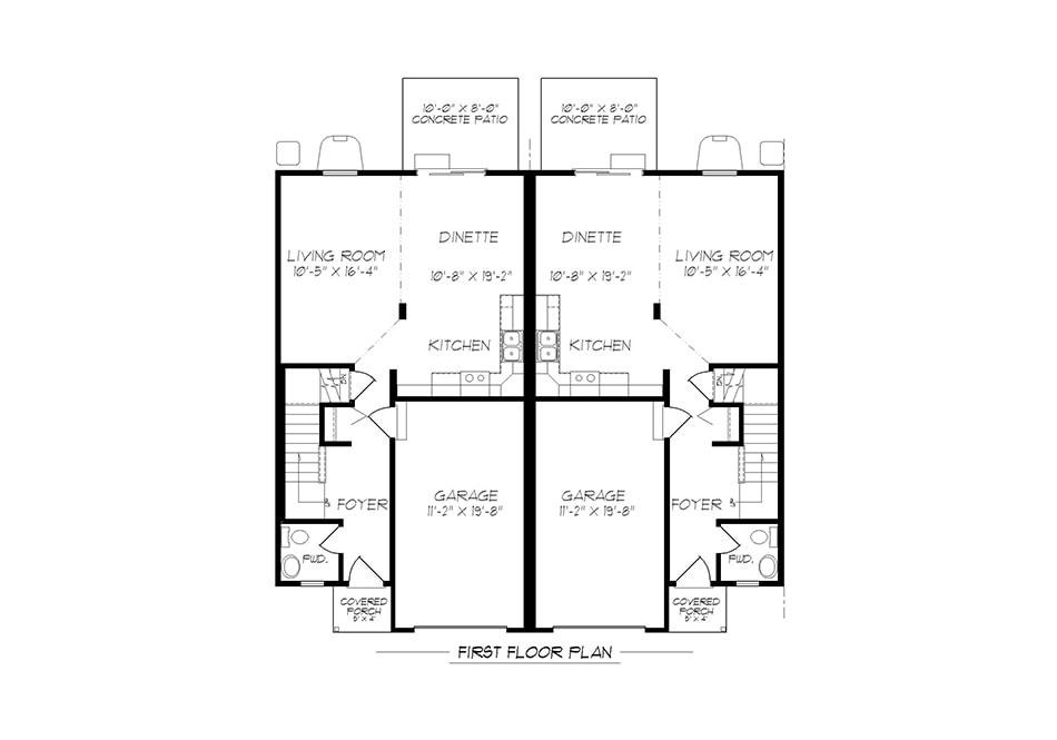 A-Unit First Floor Plan