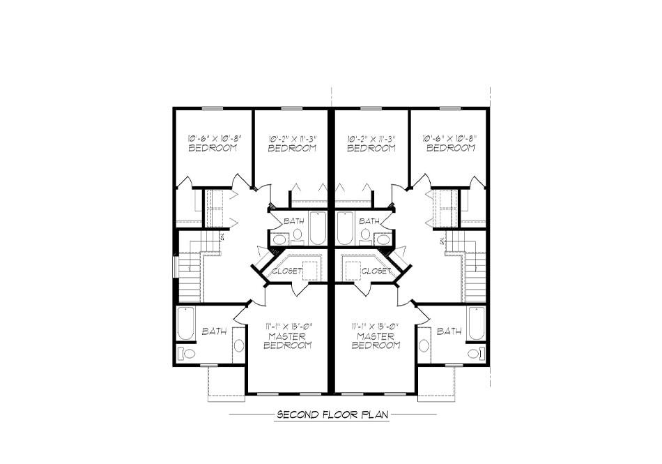 A-Unit Second Floor Plan