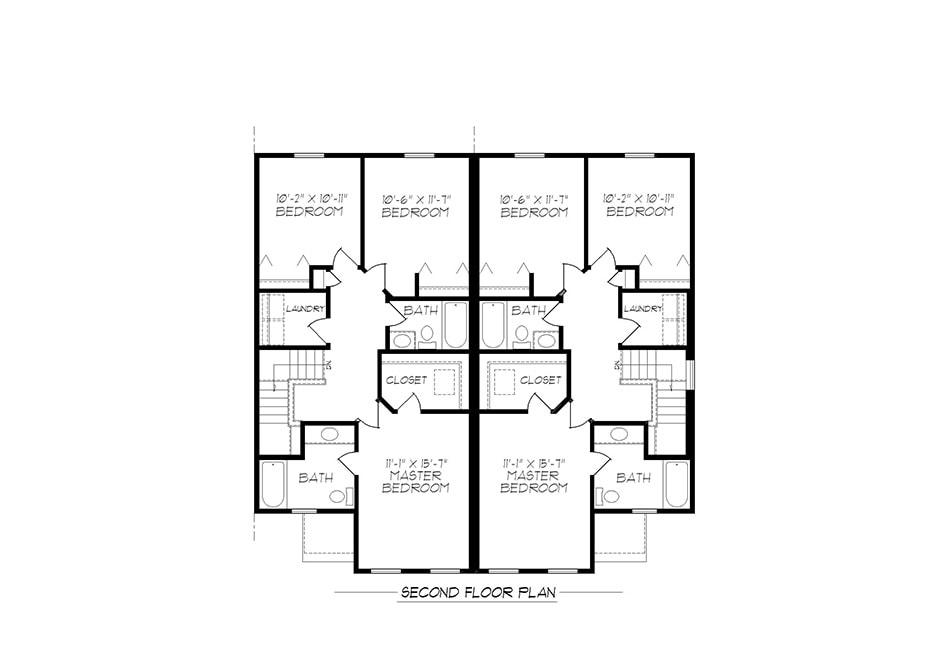 B-Unit Second Floor Plan