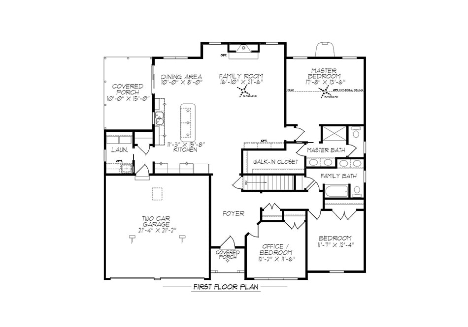 Milton First Floor Plan