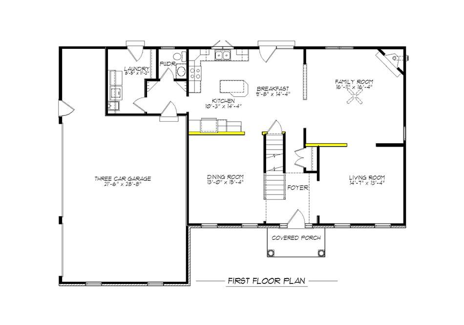 Oakland First Floor Plan