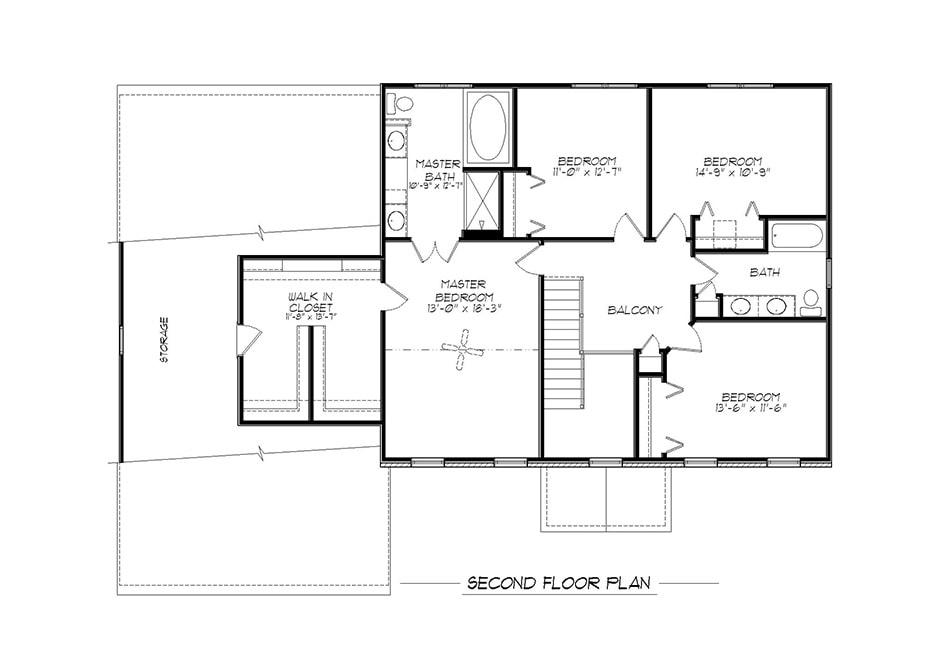 Oakland Second Floor Plan