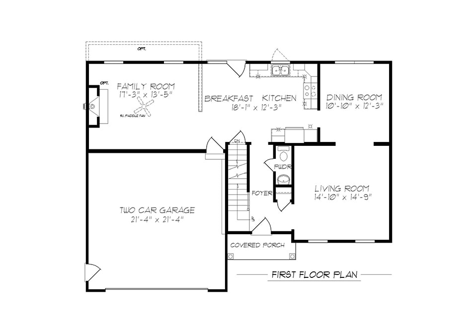 Riley First Floor Plan