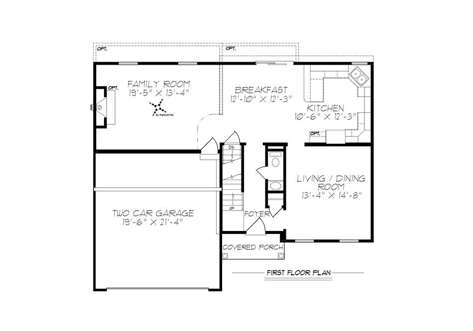 Riley II First Floor Plan