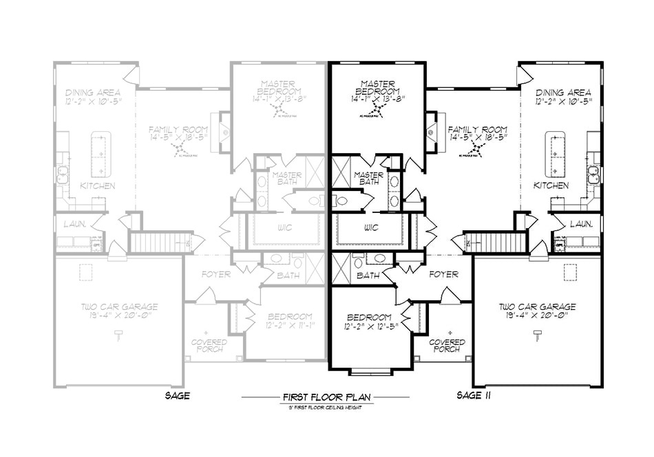 Sage II First Floor Plan