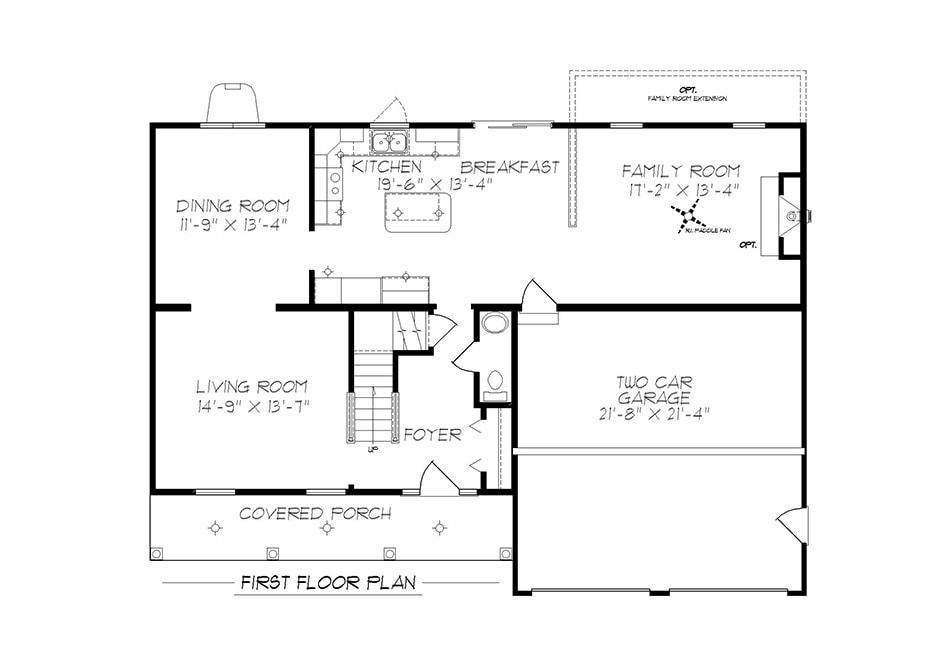 Sturbridge First Floor Plan