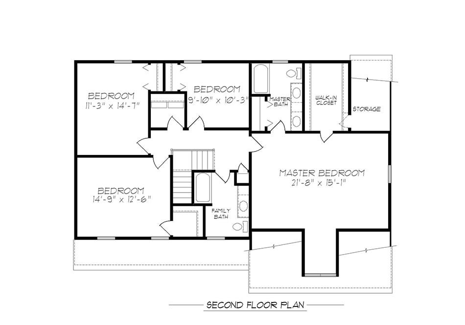 Sturbridge Second Floor Plan