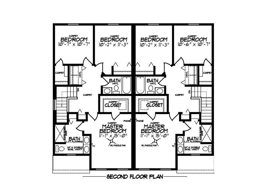 Aspen Platinum Second Floor Plan