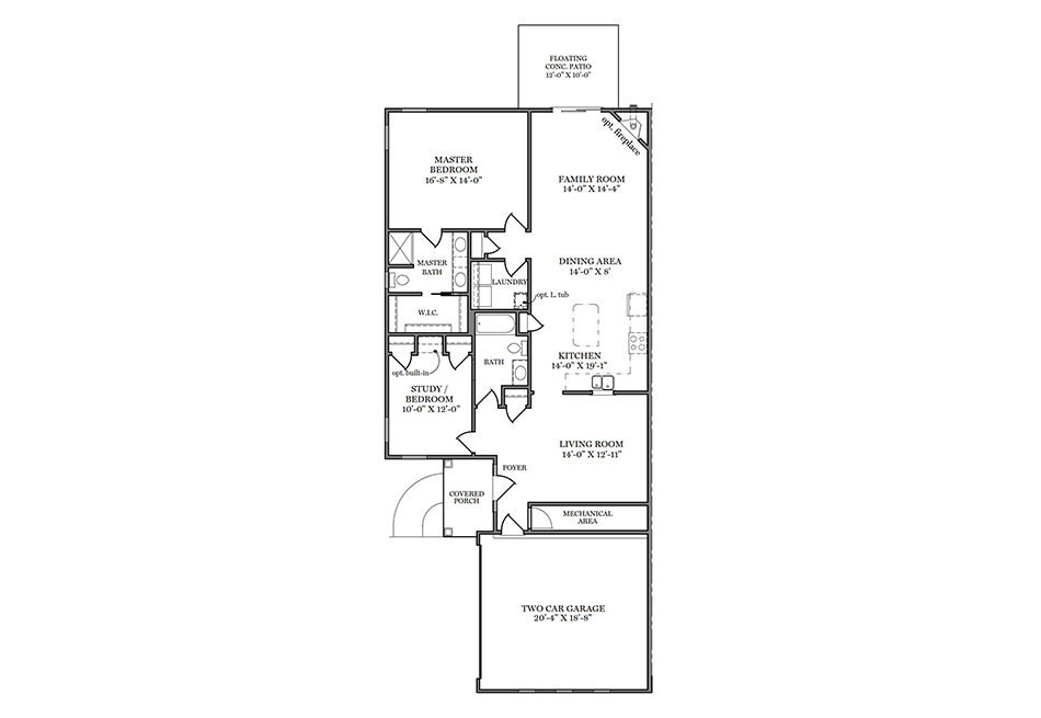 Addison First Floor Plan