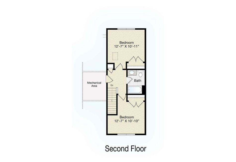Bedford Second Floor Plan