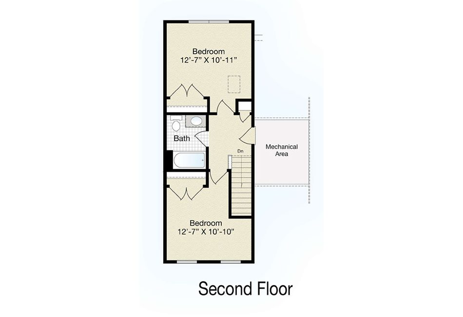 Bedford II Second Floor Plan
