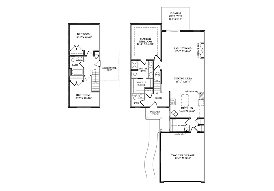 Bedford II First Floor Plan