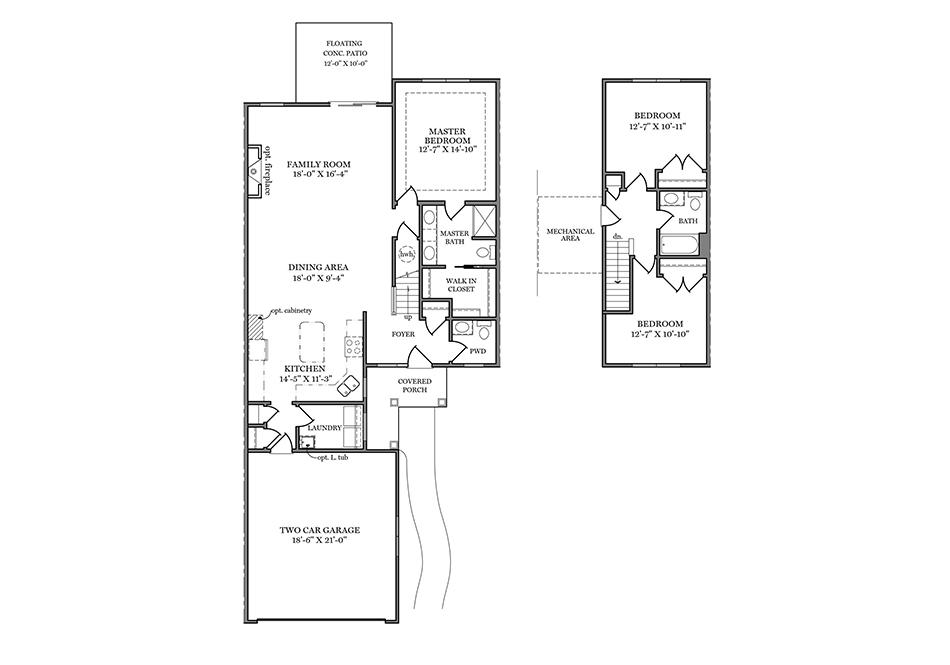 Bedford First Floor Plan