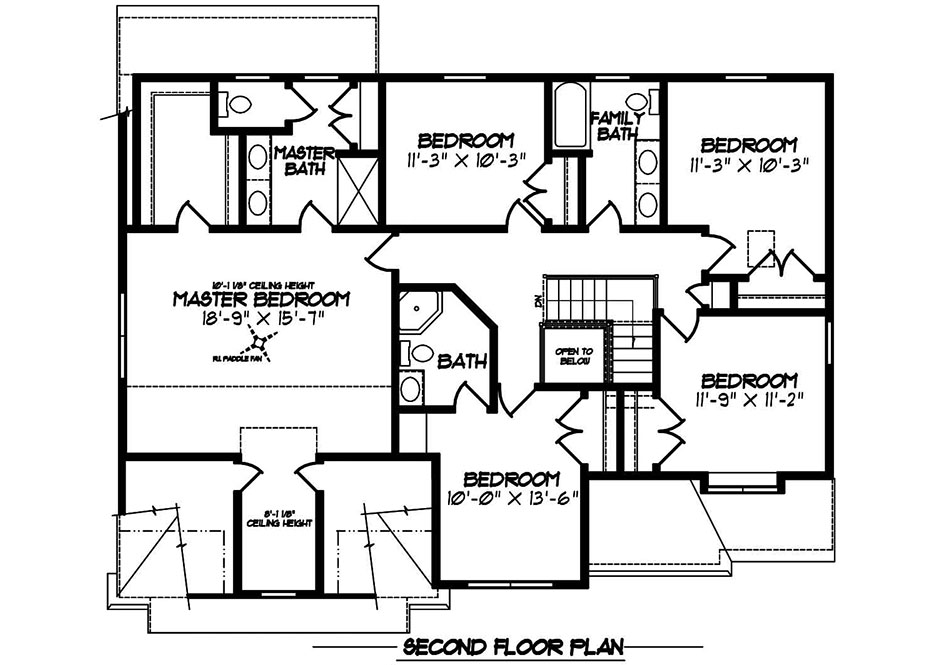 Cambridge American Second Floor Plan