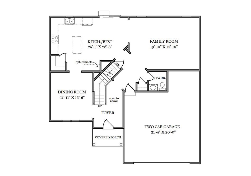 Dalton American First Floor Plan