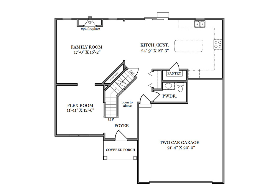 Dalton Heritage First Floor Plan