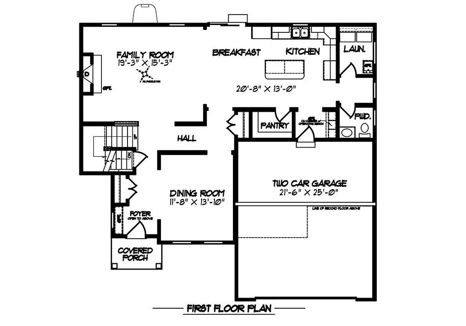 Glenwood Heritage First Floor Plan