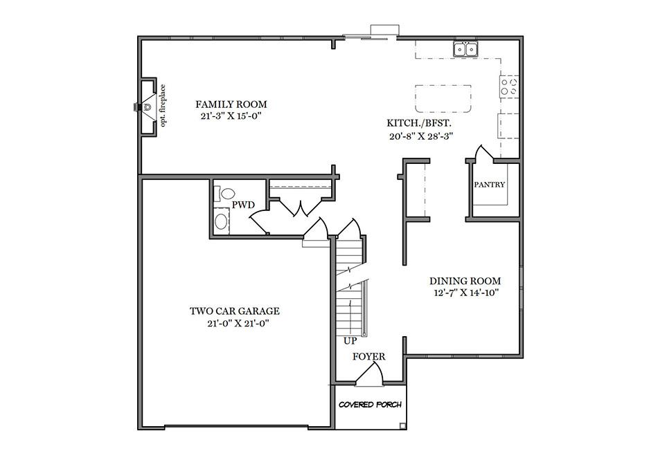 Carlton Heritage First Floor Plan