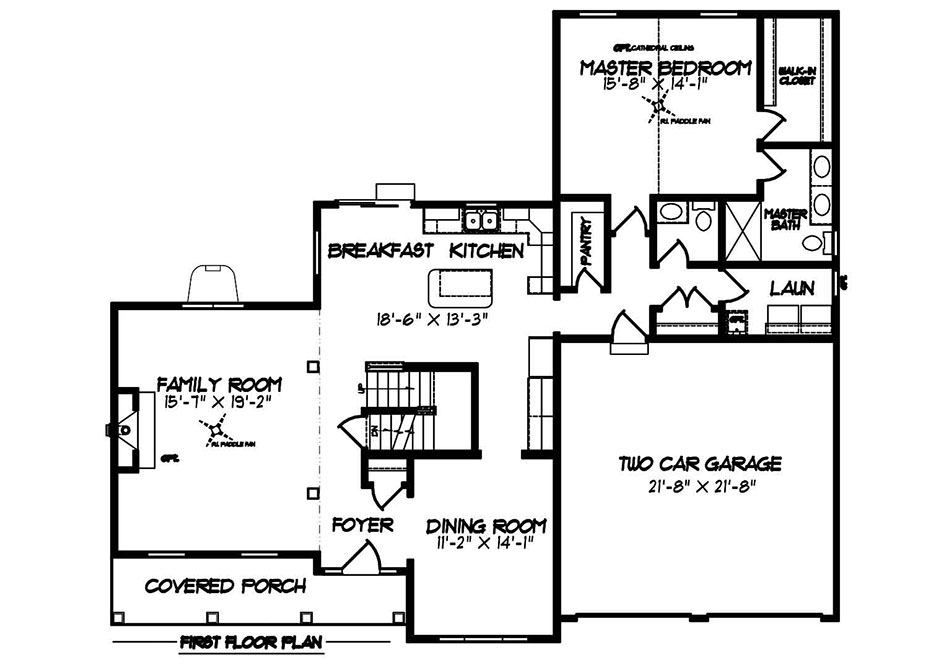 Warren American First Floor Plan
