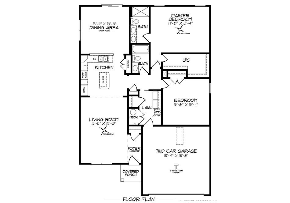 Edgebrook First Floor Plan