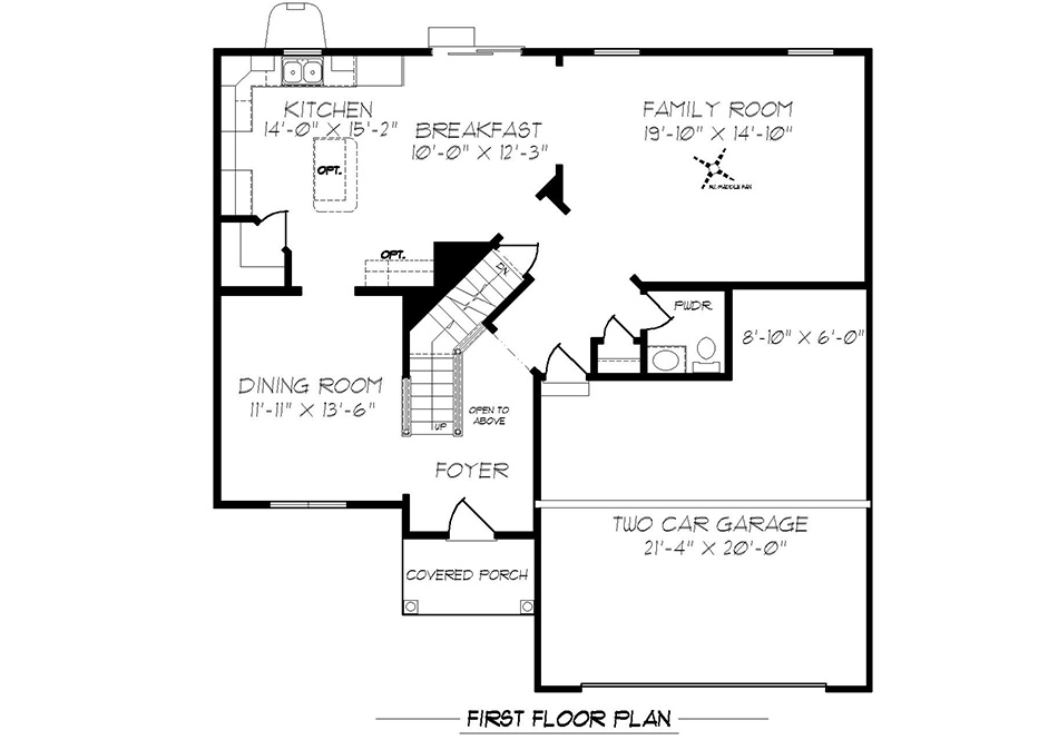 Dalton First Floor Plan