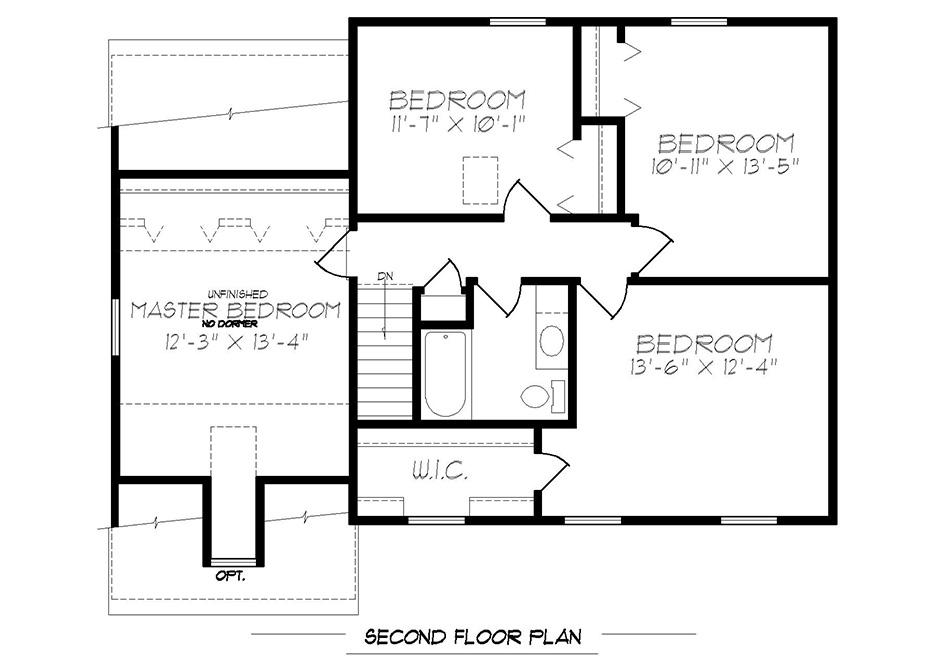 Stratford Second Floor Plan
