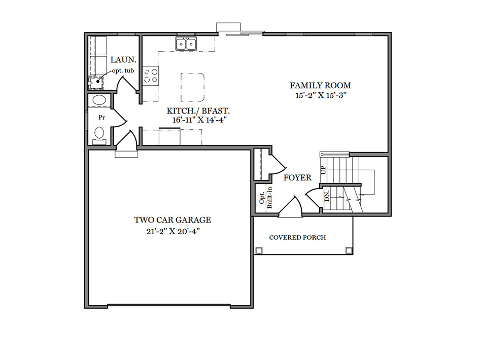 Ashford First Floor Plan