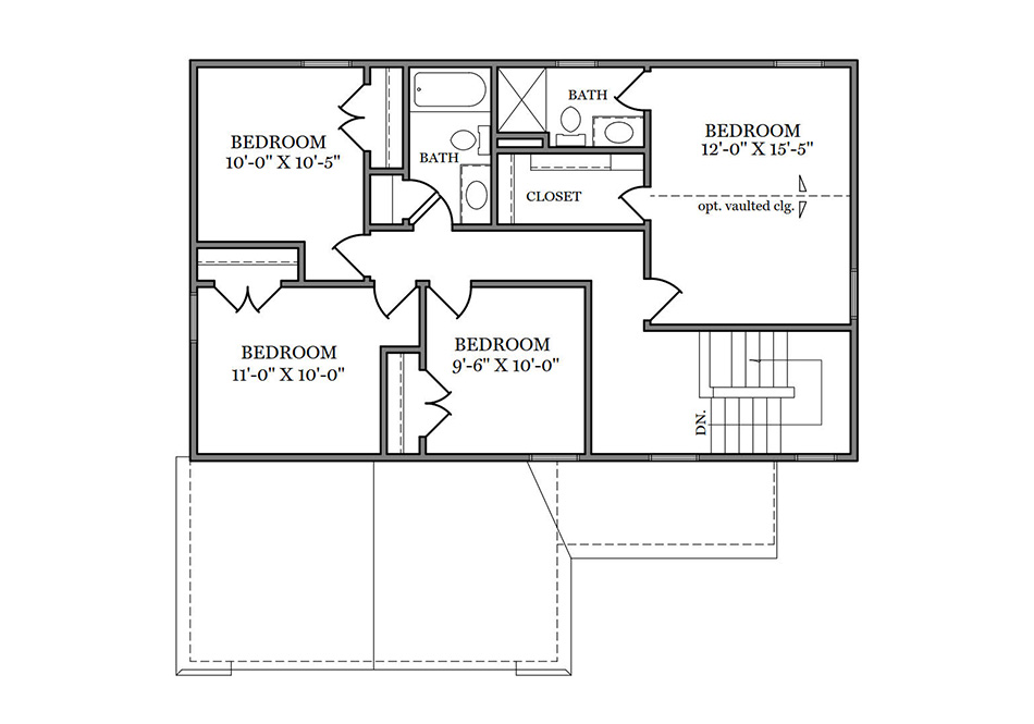 Ashford Second Floor Plan