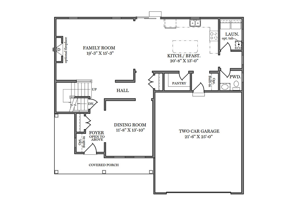 Glenwood First Floor Plan