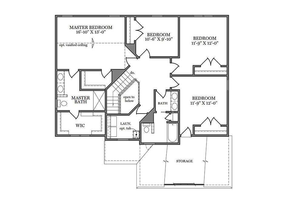 Dalton Heritage Second Floor Plan