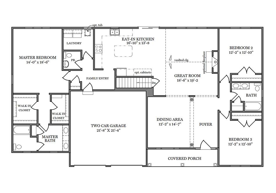 Somerset First Floor Plan