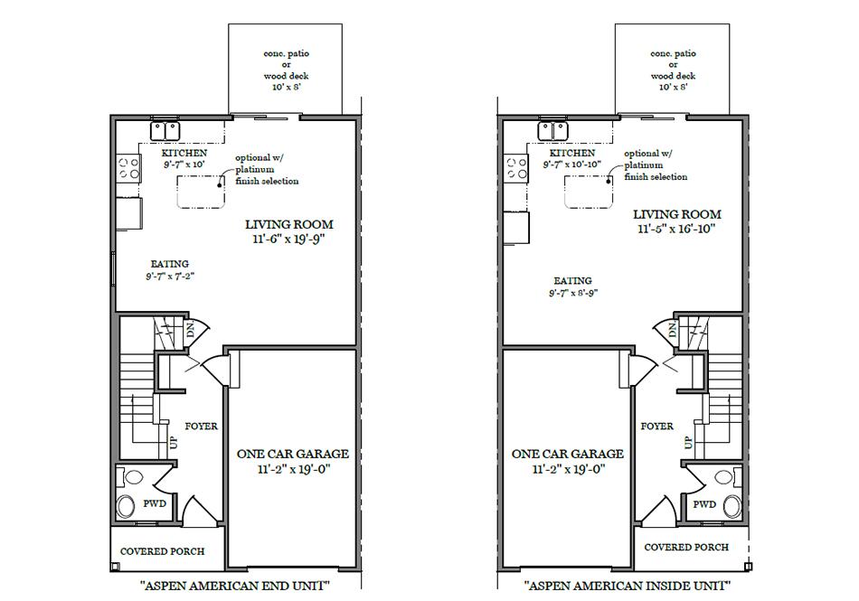Aspen American First Floor Plan