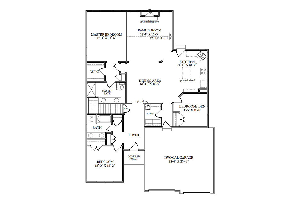 Heatherwood First Floor Plan