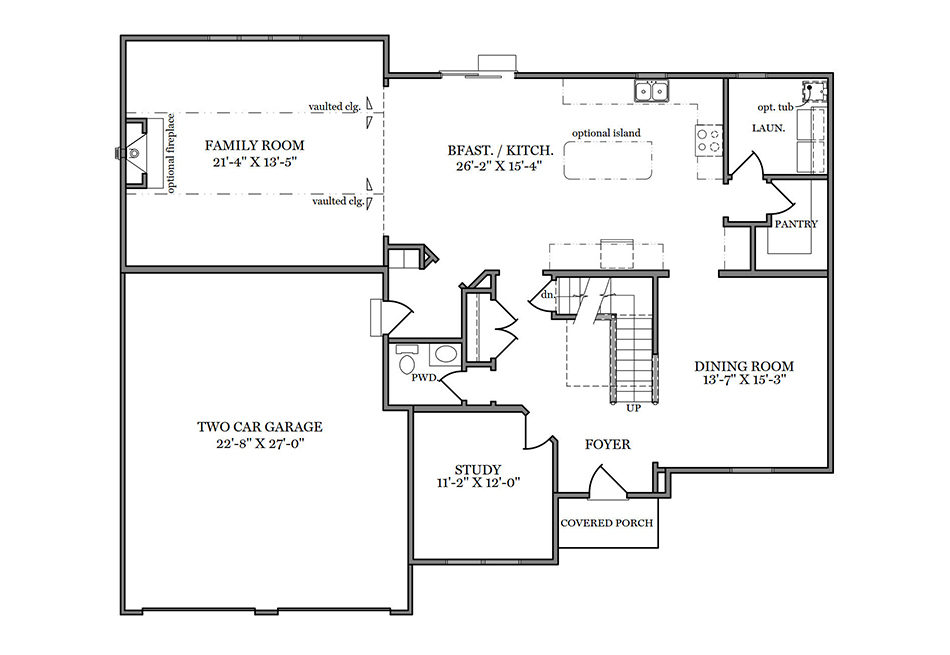 Magnolia First Floor Plan